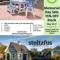Memorial Day sale on outdoor furniture