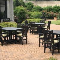 black poly table sets